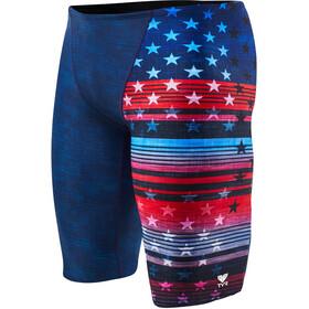 TYR Liberty Allover Jammer Herren red/white/blue